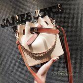 chic鍊條包包女2018夏季新款潮手提單肩包韓版時尚百搭斜挎水桶包   泡芙女孩輕時尚