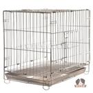 【寵物王國】2尺白鐵折疊籠【前開、上開雙門,附底盤】