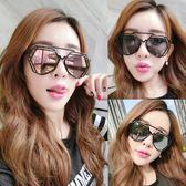 墨鏡女潮明星款眼鏡新款圓形個性太陽鏡男士圓臉韓國復古  初語生活