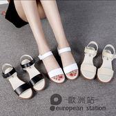 涼鞋/夏季新款平底防滑孕婦學生韓版簡約百搭平跟休閒女鞋「歐洲站」