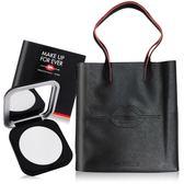 MAKE UP FOR EVER ULTRA HD超進化無瑕微晶蜜粉餅晶透白#1(6.2g)+黑色手提袋