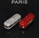 首飾盒奢華創意鑲鉆水晶口紅唇膏盒子口紅保護套帶蓋收納盒單支隨身LX聖誕交換禮物