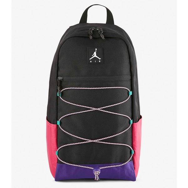 NIKE Jordan 後背包 前側袋 筆電夾層 可調式胸前插扣 黑【運動世界】JD2043002AD-001