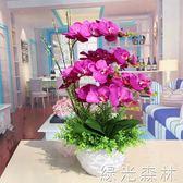 仿真花 假花仿真花裝飾花塑料花成品花大號蝴蝶蘭花客廳電視柜花塑料花盆 綠光森林