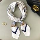 絲巾百搭春秋夏季脖子小方巾女圍巾護頸韓國薄款長條領巾洋氣時尚一米