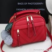 手提包 洋氣小包包女韓版時尚百搭ins潮女士側背斜背包手提 晶彩 99免運