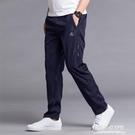 休閒裤 運動褲男長褲滌綸夏季薄款單層透氣速幹褲休閒直筒寬鬆跑步褲