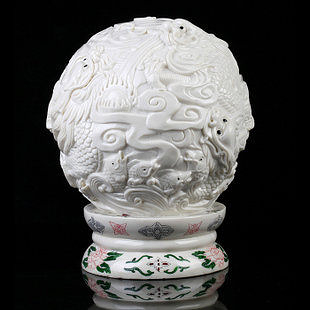 五龍戲珠風水球擺件