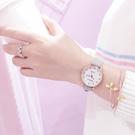 流行女錶 手錶女學生韓版簡約少女心文藝複古學院風森女繫皮帶休閒大氣防水 店慶降價
