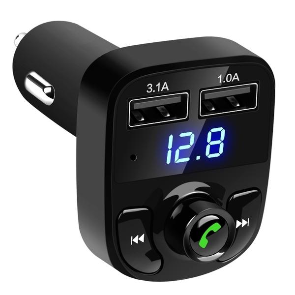 多功能 藍芽車用MP3 雙USB 智能快充 車用 車充 車載播放機 TF卡 插卡音樂 充電器 無線發射器