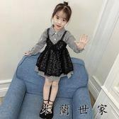 女童連身裙洋氣公主裙小女孩蕾絲裙