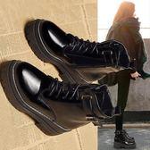YAHOO618◮ins馬丁靴女2019新款chic秋冬季短筒英倫風百搭韓版靴子高跟短靴 韓趣優品☌