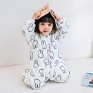 秋冬季嬰兒連體衣爬服法蘭絨寶寶睡衣珊瑚絨加厚睡袋嬰兒童家居服
