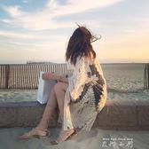比基尼罩衫沙灘外套開衫海邊度假寬鬆防曬披肩長款泳衣外搭可下水   米娜小鋪