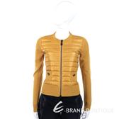 MARELLA 黃色拼接設計針織拉鍊外套 1340439-D8