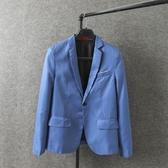 西裝外套 男裝18春季新款大碼修身小西裝男士商務西服正裝休閒外套【快速出貨八折搶購】
