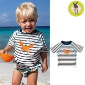 德國Lassig-嬰幼兒抗UV短袖泳裝上衣-小螃蟹