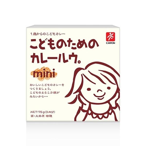 日本 CANYON 兒童咖哩塊MINI 75g[衛立兒生活館]
