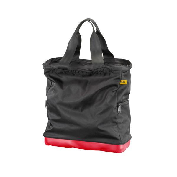 Crash Baggage Bump Bags Collection 前衛霧面 龐克系列 防潑水 托特包 / 側背包(黑色提袋 - 火焰紅硬殼 )