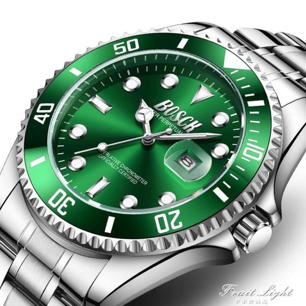 綠水鬼2020新款手錶男士潮男錶夜光防水學生運動潛水黑水怪 果果輕時尚