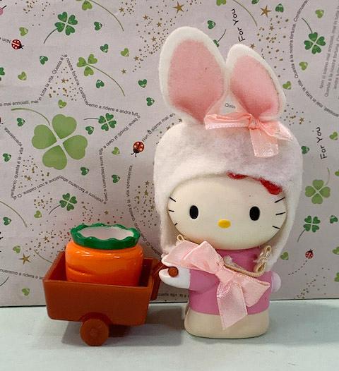 【震撼精品百貨】Hello Kitty 凱蒂貓~三麗鷗 KITTY兔子絨毛推車玩具*00140