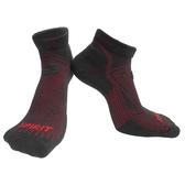 【岱宇國際Dyaco】SPIRIT 跑步短筒襪(壓縮/除臭)-黑紅