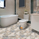 壁貼 廚房自黏改裝地貼 仿彩色地毯出租屋舊瓷磚改裝貼紙 防水防滑耐磨 618購物節