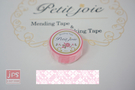 【NICHIBAN】 日絆 Petit Joie Mending Tape 花邊隱形膠帶 蕾絲條紋 (PJMD-15S005)
