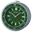 9.5X9.4cm 日本精工 SEIKO 綠水鬼 滑動式秒針 貪睡 鬧鐘 QHE184M