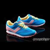 PONY SOHO 藍粉黃條紋鞋帶 內增高 歐陽妮妮 復古慢跑鞋 女 # 61W1SO70BL ☆SP☆
