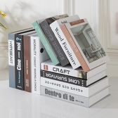 現代北歐簡約假書仿真書客廳家居店鋪裝飾品擺件道具書殼創意擺設 NMS名購居家