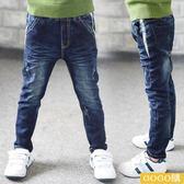 男童冬裝牛仔褲新款韓版純棉小腳褲