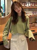 2018秋季新款韓版百搭寬松純色長袖T恤套頭圓領上衣打底衫女裝潮