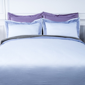 (組)雅緻天絲素色單人床被組湛藍