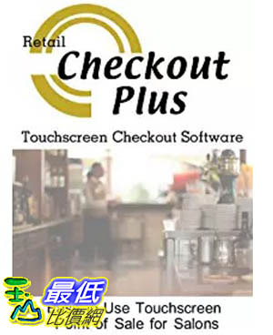 [106美國暢銷兒童軟體] Checkout Plus Resturants and Bars Point of Sale Checkout Software; Inventory Management