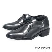 Tino Bellini義大利進口金屬皮中性綁帶皮鞋 _ 鐵灰  B69001  歐洲進口款