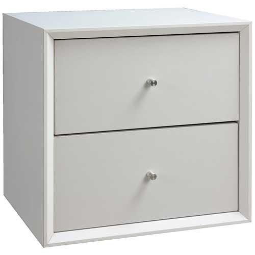 【藝匠】魔術方塊白色大雙抽櫃收納櫃 家具 組合櫃 廚具 收藏 置物櫃 櫃子 小櫃子