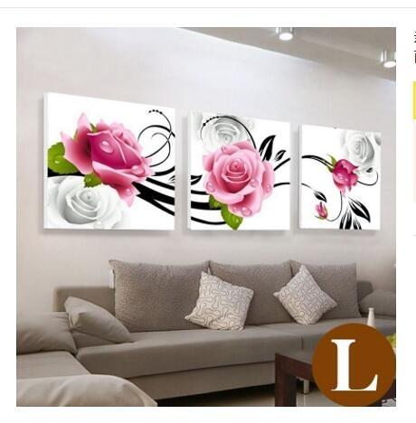新中式客廳裝飾畫現代簡約沙發背景牆畫三聯畫牆上掛畫無框畫壁畫WY【八折搶購】