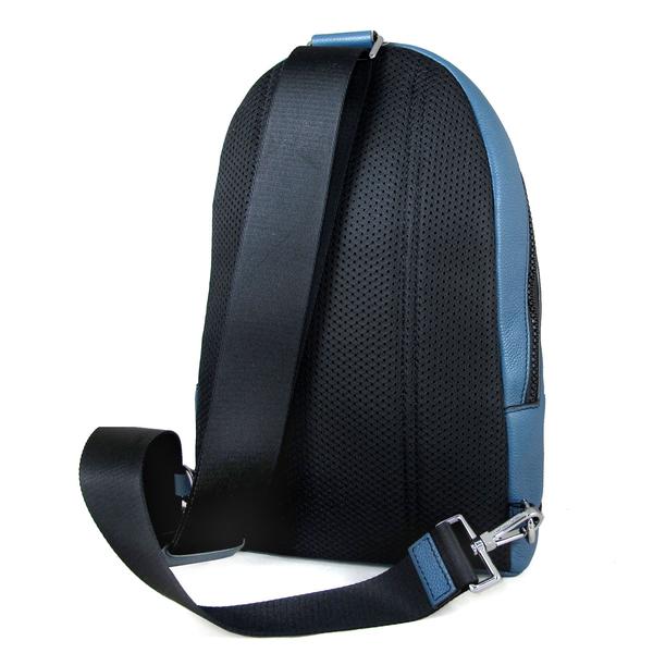 MICHAEL KORS COOPER mk字母牛皮單肩後背包 胸包 (藍色)-37U9LCRC8L