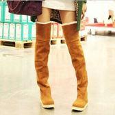 長靴雪地靴韓流高筒過膝靴厚底女鞋過膝長靴中筒女靴子 露露日記