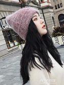 韓版ins百搭純色針織帽子女士潮牌秋冬季護耳保暖日繫可愛毛線帽  朵拉朵衣櫥