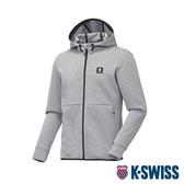 K-SWISS HS Jersey Jacket韓版運動外套-男-淺灰