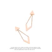 #耳環#簡約#幾何 鏤空 三角形 鍊條 氣質 甜美 耳釘 耳環 【DD1704120】 icoca  3/26