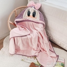 寶寶春夏浴巾帶帽斗篷嬰兒卡通超柔吸水兒童洗澡浴袍速幹不掉毛【小艾新品】