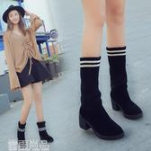 短靴秋冬女靴子英倫時尚馬丁靴短靴圓頭中跟粗跟百搭兩穿女穿靴子 新年鉅惠