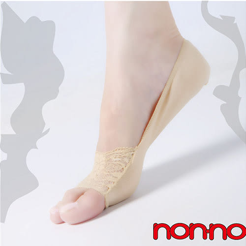 non-no儂儂褲襪 (6入) 蕾絲魚嘴襪套-25002