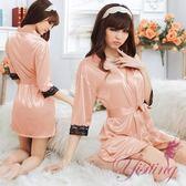 和服睡衣 經典浪漫!柔緞蕾絲和服睡袍﹝裸﹞ 情趣睡衣 女衣