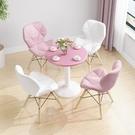 洽談桌休閒方桌子家用接待餐桌椅洽談桌小圓桌椅子組合售樓處 【快速】