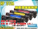 HP 312A/CF381A 藍色 環保碳粉匣 M476dw/M476nw ETCH067