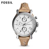 ↖400折價券 現領現折↘ FOSSIL Original Boyfriend 駝色皮革計時手錶 女